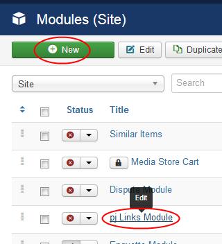 Edit Module